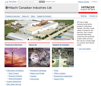 image of hitachi.sk.ca.com website
